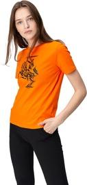 Audimas Womens Short Sleeve Tee Orange Printed M