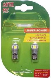 AutoDuals 5SMD-LED T10 Light Bulb Blue 2pcs