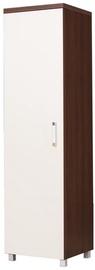 Skapis Bodzio Amadis A02 White/Brown, 50x52x190 cm