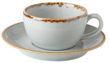 Porland Seasons Cup With Saucer 20.7cl Grey