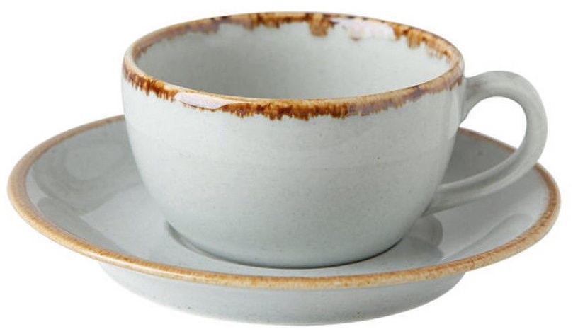 Krūzīte ar apakštasi Porland Seasons Cup With Saucer 20.7cl Grey