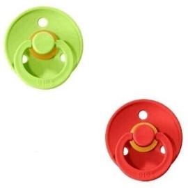Bibs Colour Round Pacifier 2pcs Strawberry/Lime 6-18m