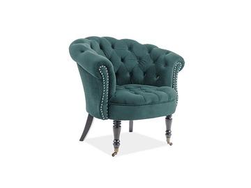Atzveltnes krēsls Signal Meble Philips, zaļa, 87x78x83 cm