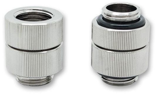 EK Water Blocks EK-AF Extender Rotary M-M G1/4 Nickel