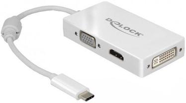 Delock 63924 USB Type-C To VGA / HDMI / DVI Adapter Female White