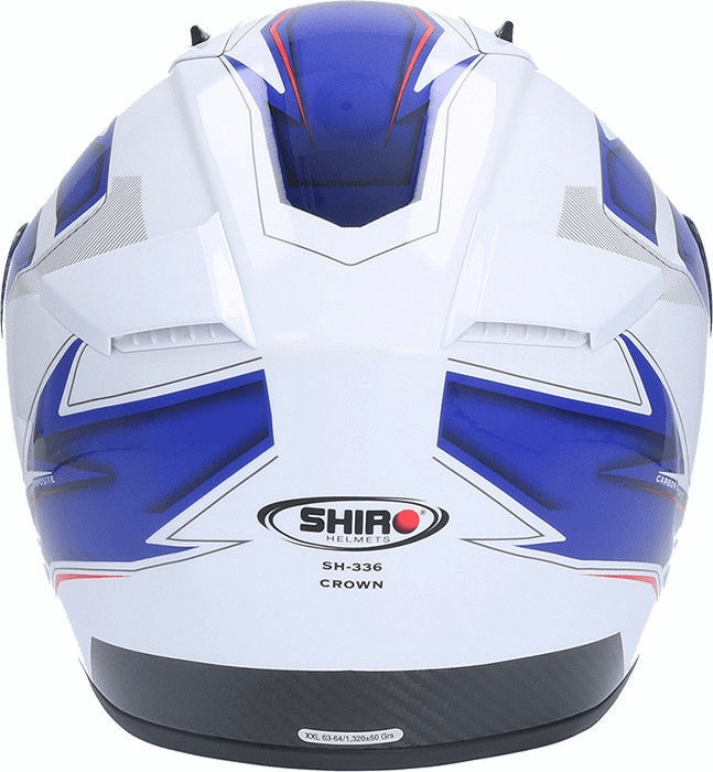 Shiro Helmet SH-336 Crown White Blue L