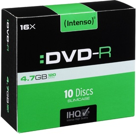 Intenso DVD-R 16x 4.7GB 10pcs. Slim Case 4101652