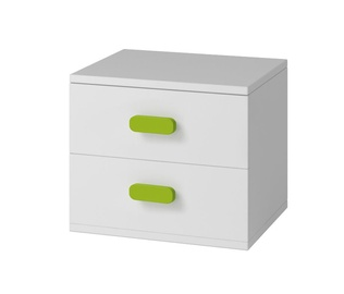 Naktsgaldiņš Idzczak Meble Smyk 22 White/Green