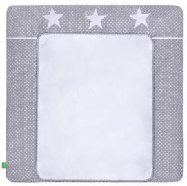 Matracis autiņu maiņai Lulando Dots/Stars, 75x80 cm, balta/pelēka