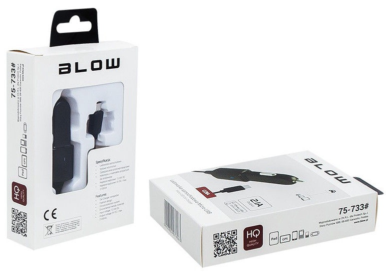 Blow MicroUSB 5V 2.1A Car Charger