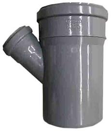 Kanalizācijas caurules trejgabals Wavin D50/110mm, 45°, PVC