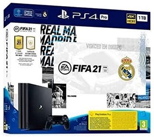 Sony Playstation 4 (PS4) Pro 1TB Black + FIFA 21 Real Madrid Edition