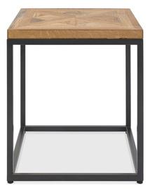 Kafijas galdiņš Home4you Indus Mosaic Oak/Grey, 450x450x500 mm