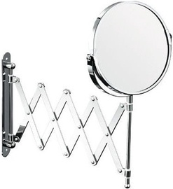 Axentia Bathroom Magnifying Wall Mirror Chrome Round 170mm