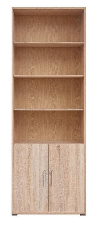 Black Red White BRW Office REG2D Bookshelf Sonoma Oak
