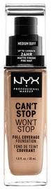 Tonizējošais krēms NYX Can't Stop Won't Stop CSWSF10.5 Medium Buff, 30 ml