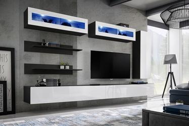 Dzīvojamās istabas mēbeļu komplekts ASM Fly L2 White/Black