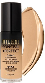 Tonizējošais krēms Milani Conceal + Perfect Golden Beige, 30 ml