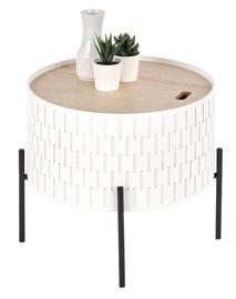 Kafijas galdiņš Halmar Sintra, balta, 350x350x350 mm
