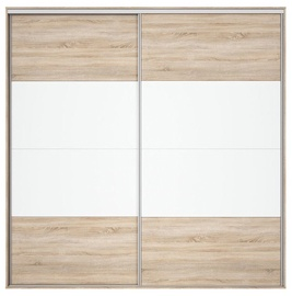 Black Red White Wardrobe Front Nadir 230-240 Sonoma Oak/White