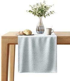 AmeliaHome Blackout Lamari Tablecloth 40x140cm Silver