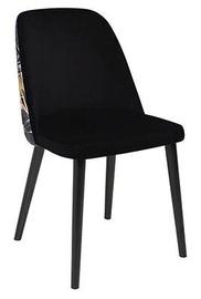 Ēdamistabas krēsls Black Red White Aka, zelta/melna