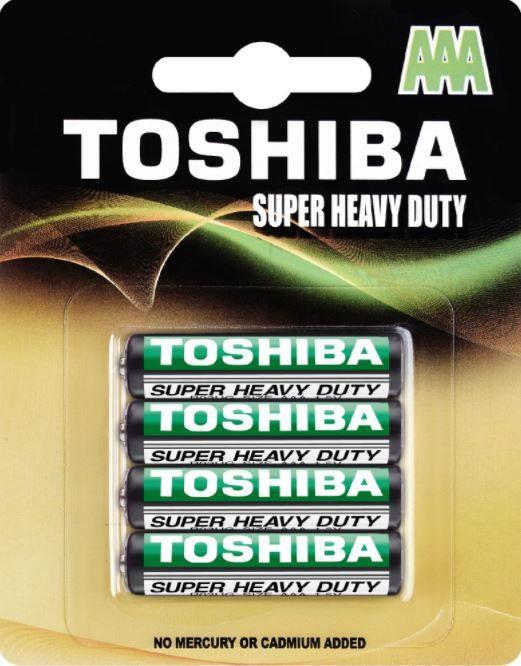 Toshiba Zn-C Battery AAA x4