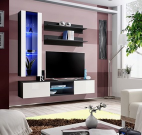 ASM Fly S2 Living Room Wall Unit Set White/Black