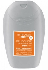 Byphasse Men Shower Gel-shampoo 2 In 1 Funky Savannah 500ml