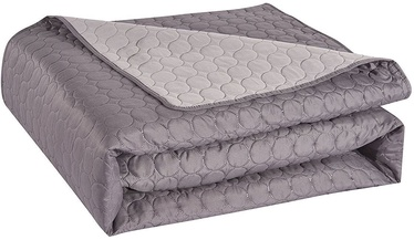 DecoKing Salice Bedcover Steel/Silver 170x210