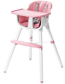 Barošanas krēsls EcoToys, balta/rozā