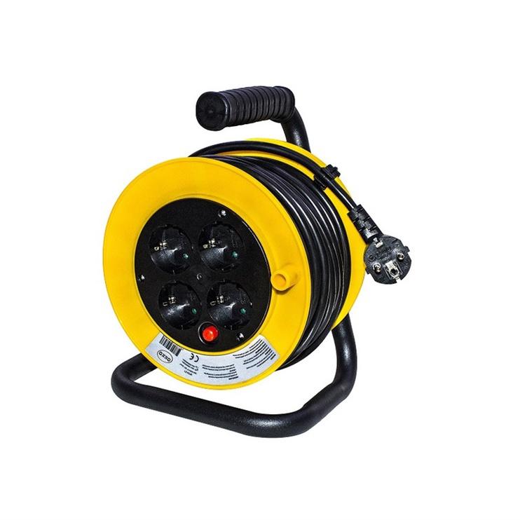 Okko H05VV-F Cable Reel 4 Outlets 3m