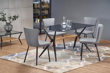 Обеденный стол Halmar Finley Smoked/Black, 1400x800x740 мм