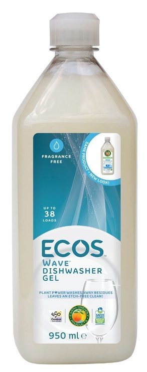 ECOS Dishwasher Gel Wave Fragrance Free 950ml