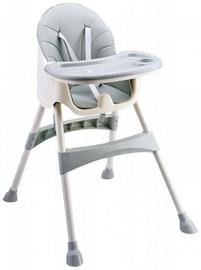 Barošanas krēsls EcoToys 2in1 Azure, pelēka/smilškrāsas