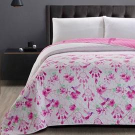 Gultas pārklājs DecoKing Sweet Dreams, balta/rozā, 260 cm x 240 cm