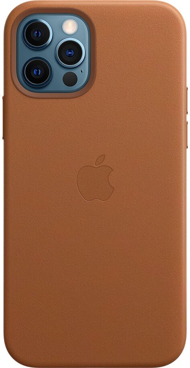 Apple MagSafe Leather Back Case For Apple iPhone 12 Pro Max Saddle Brown