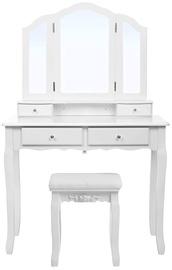Столик-косметичка Songmics White, 90x40x145 см, с зеркалом