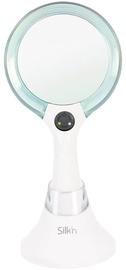 Kosmētiskais spogulis Silk'n MLU1PEUD001 White/Blue, ar gaismu, stāvošs, 13.2x26.3 cm