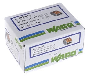 Wago Connection Terminal 3x0.2-4 50pcs