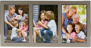 Poldom Photo Frame Triple 10x15cm Gold