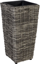 Home4you Flower Pot Wicker 28x60cm Gray 35114