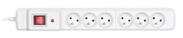 ActiveJet Surge Protector 6 Outlet Grey 2.5m