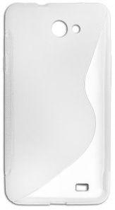 KLT S-Line Back Case For HTC One V White/Transparent