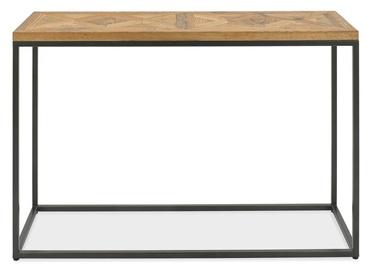 Kafijas galdiņš Home4you Indus Mosaic Oak/Grey, 1160x370x770 mm