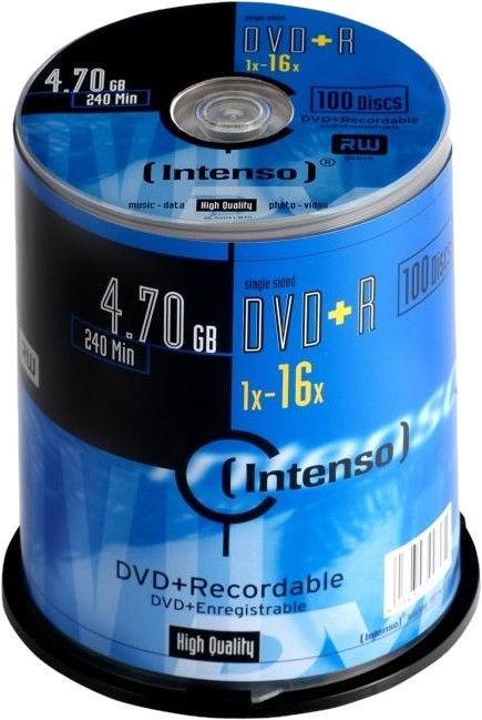 Intenso DVD+R 16x 4.7GB 100 pcs. Cake Box 4111656