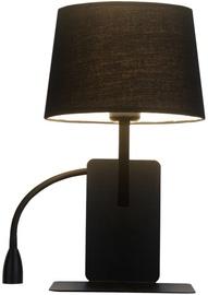Light Prestige Dakota Wall Lamp 60W E27 Left Black