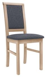 Ēdamistabas krēsls Black Red White Luttich Light Brown/Grey