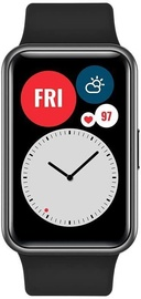 Viedais pulkstenis Huawei Huawei Watch Fit Black, melna