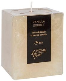 Aromātiskā svece Home4you Candle Vanilla Sorbert 7.5x7.5xH10cm, 48 h